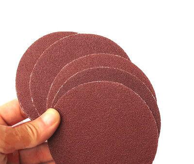 Lot de 10 disques papier de verre diamètre 125 mm grain 40 à 2000 ponçage