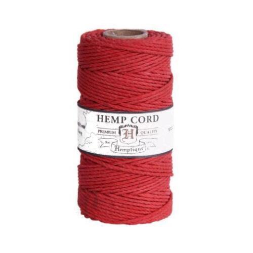 Hemptique 20lb Hemp Cord 1mm x 62m