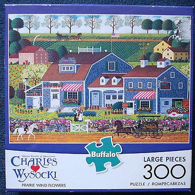 jigsaw puzzle 300 XL pc Prairie Wind Flowers  Charles Wysocki Americana