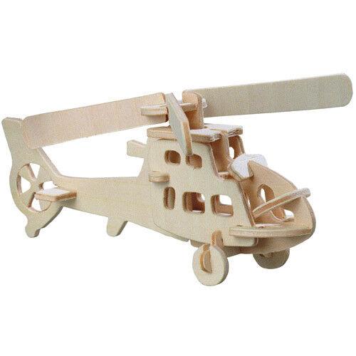 Hubschrauber Holzbausatz Flugzeug Flieger Holz Steckpuzzle Holzpuzzle Kinder Bau