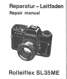 rollei repair manual rolleiflex sl35me film camera service manual rh ebay com Rolleiflex Camera Rolleiflex Camera