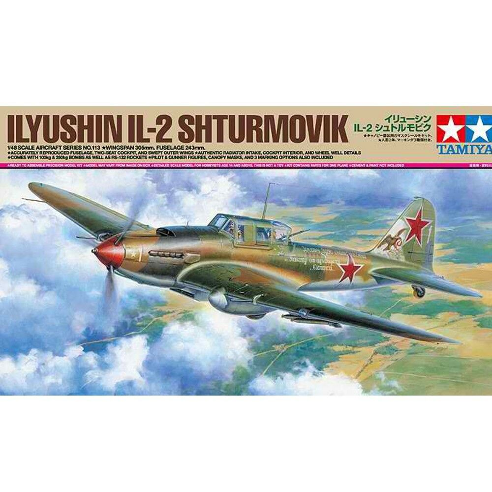 Tamiya 1 48 61113 Ilyushin IL-2 Shturmovik Model Kit