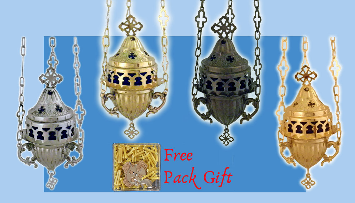 Orthodox Vigil Lamp Oil Candle Metal Cup Cross Design Ewiglicht Ikonenampel
