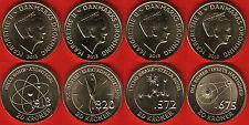"Denmark set of 4 coins: 20 kroner 2013 ""Danish scientists"" UNC"