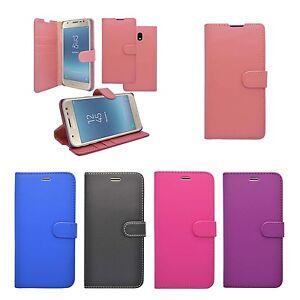 Para-Samsung-Galaxy-J3-2017-Libro-de-Cartera-Abatible-en-Varios-Colores-Funda