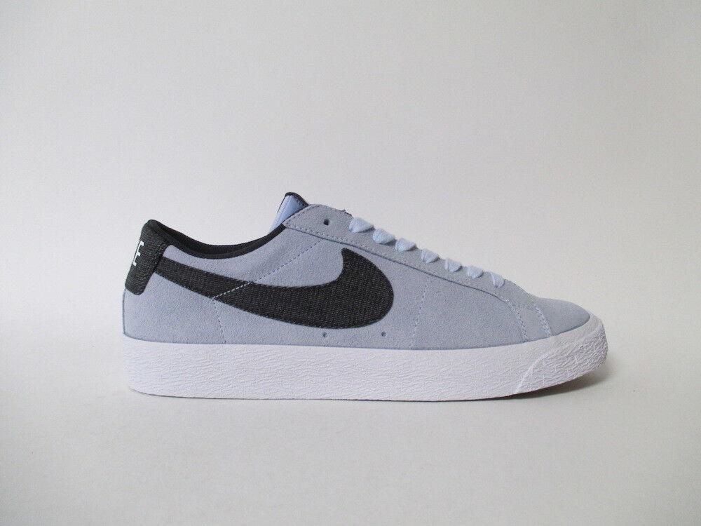 Nike SB Blazer Low Hydrogen Blue White Sz 9.5 864347-401