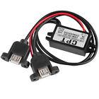 DC DC Converter Module 12V To 5V 3A 15W Duble USB Output Power Adapter FE