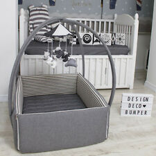 """DesingDeco Bumper  Baby Bed Crib Size W34"""" L42"""" Various designs FREE SHIPPING..."""