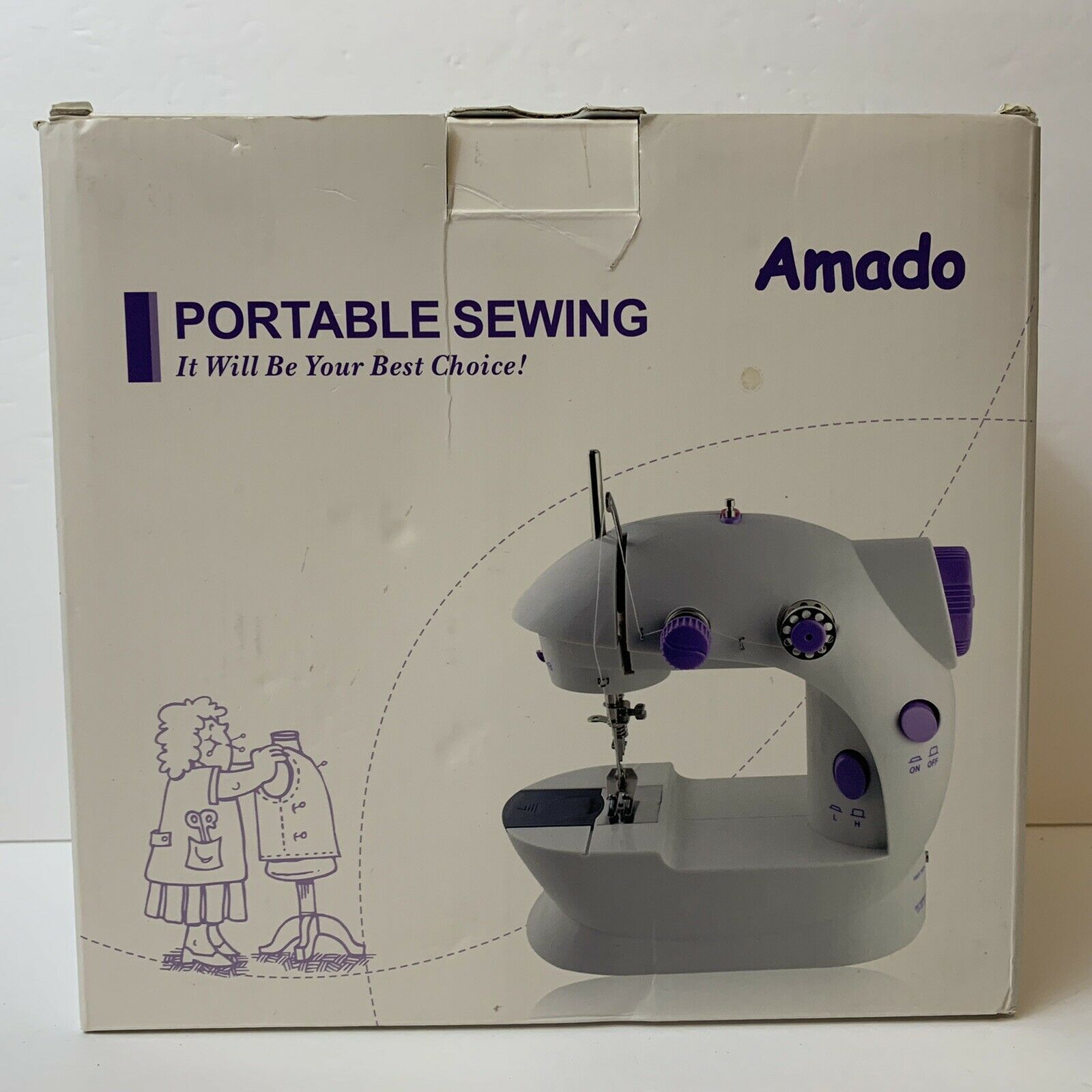 s l1600 - Amado Electric Portable Sewing Machine Desktop Household 2 Speed Foot Pedal