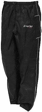 50-7837 Frogg Toggs Road Toad Pants Foul weather gear BLACK size MEDIUM