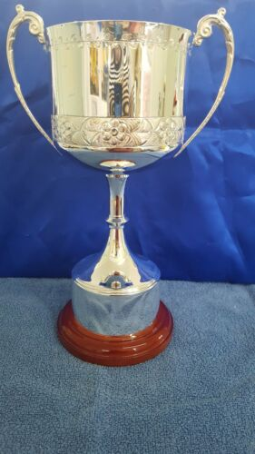 "13.5"" Silver Plated Trophy, with Hand Chased Detail Swatkins"