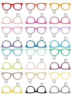 24 Edible Rice Paper cake decorations - Geek nurd glasses ...