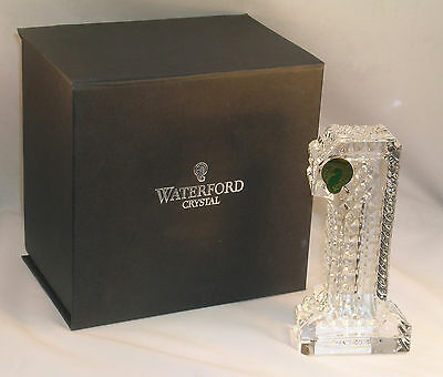 """New Waterford Lead Crystal Number One Paperweight #1 Figurine Ex Large 5"""" Tall"""
