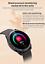 Senora-dorado-c19-Bluetooth-reloj-redondo-display-Android-iOS-Samsung-iPhone-IP miniatura 6