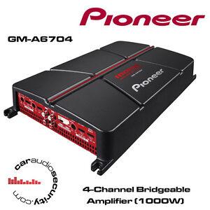 Pioneer GM-A4704 2 canales 520 Vatios Altavoces Estéreo Radio De Coche Amplificador Sub