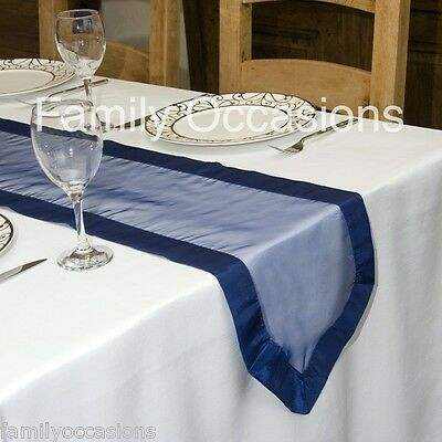 ORGANZA WITH SATIN EDGED TABLE RUNNER  250 cm long x 33cm wide