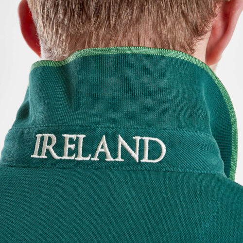 VX3 Mens Ireland 2019//20 Vintage Rugby Polo T-Shirt Top Green