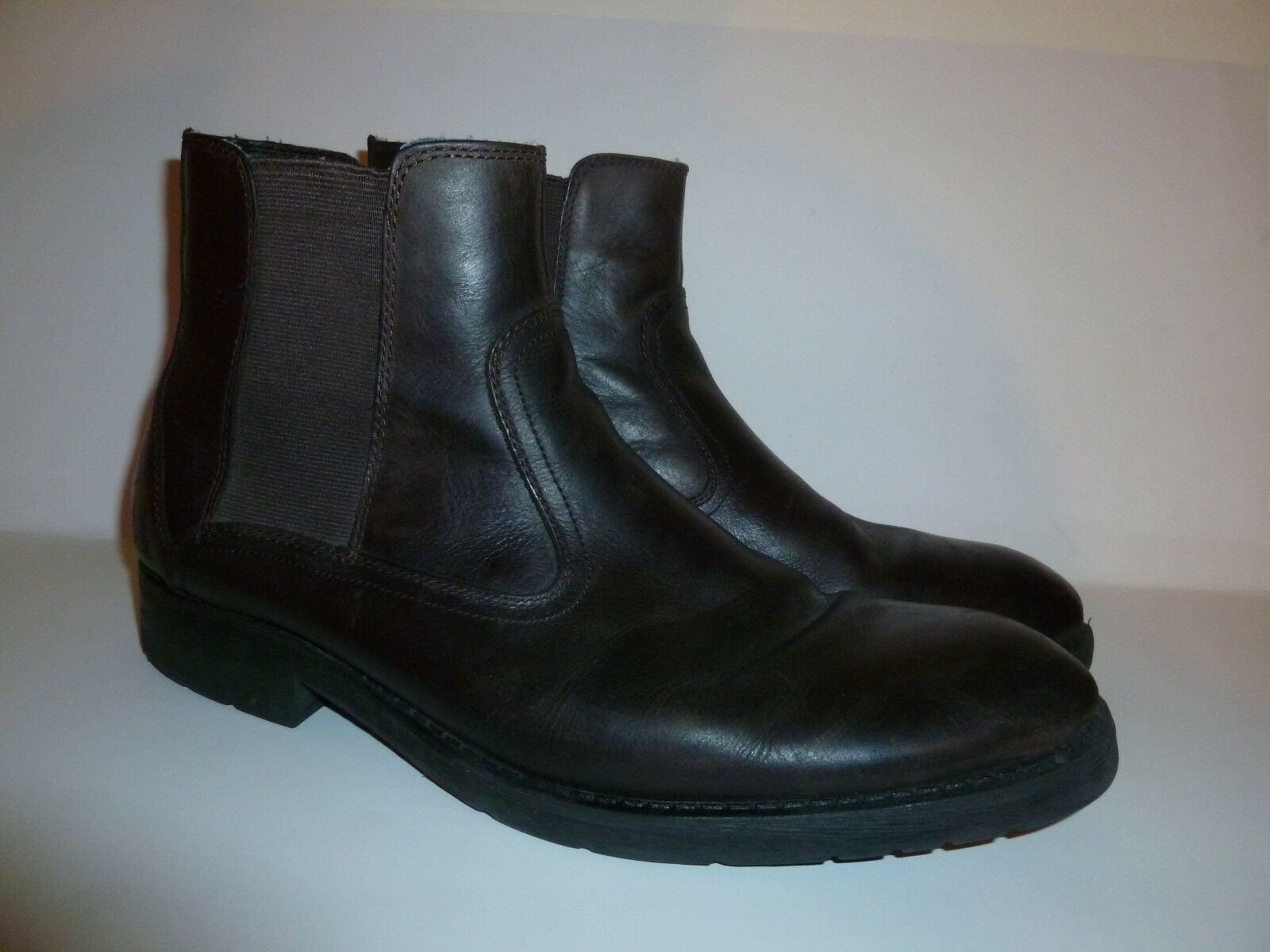 Men's Bass Brown Leather Diego Ankle Boot 11.5M