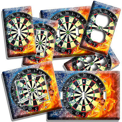 Light Switch Plate /& Outlet Covers MAN CAVE GAME ROOM ~ DART BOARD IMAGE