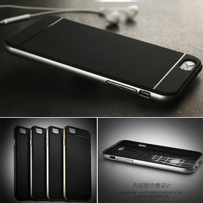 Luxury Hybrid Hard Bumper Soft Rubber Cover Case For iPhone 6s/7/Plus 5/5s