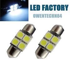 2X DE3021 DE3022 DE3175 31MM 4-SMD White LED Festoon Dome Car Lights Bulb #OSJB