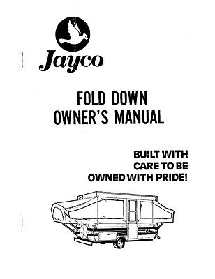 1984 Jayco Jay Cardinal King Thrush Dove Finch Popup Trailer Owners Manual EBay