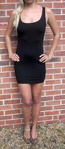 Womens-Ladies-Bodycon-Little-Black-Mini-Stretch-Dress-New-Size-UK-8-10-12-14-16
