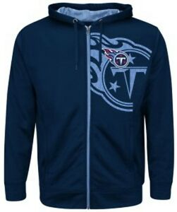 Tennessee-Titans-NFL-Mens-Majestic-Coverage-Sack-Full-Zip-Hoodie-Navy-Big-Sizes