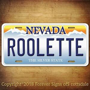 Details about Casino Gambling Game ROOLETTE Nevada Aluminum Vanity License  Plate Tag