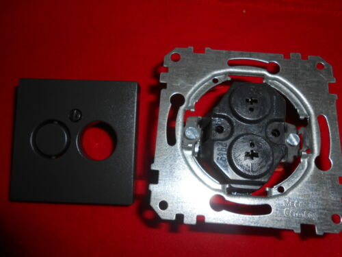 Merten 297414 système M Haut-parleurs-prise de courant Couverture Anthracite Mat
