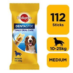 112 Pedigree Daily Dentastix Dental Sticks Dog Treats Medium Dog Chews