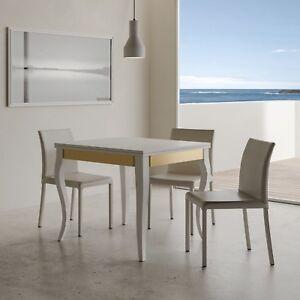Dettagli su Tavolo allungabile OLANDA LIBROX 90x90 salotto soggiorno cucina  moderno