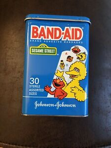 Sesame-Street-Band-Aid-Johnson-amp-Johnson-Bandage-Tin-Empty-No-Bandages