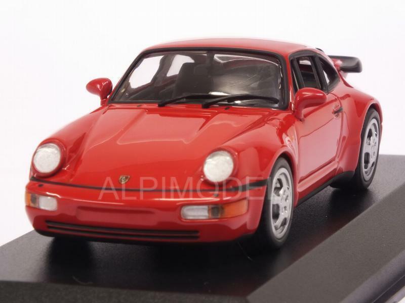 Porsche 911 Turbo 964 1990 röd Maxichamps Edition 1 43 MINISTAMPS 940069102