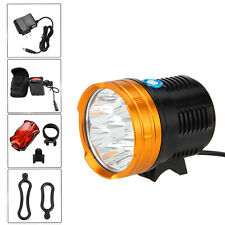 15000Lumen 9x CREE XM-L R8 LED Flashlight Front Bicycle Bike Head Light 12000mAh