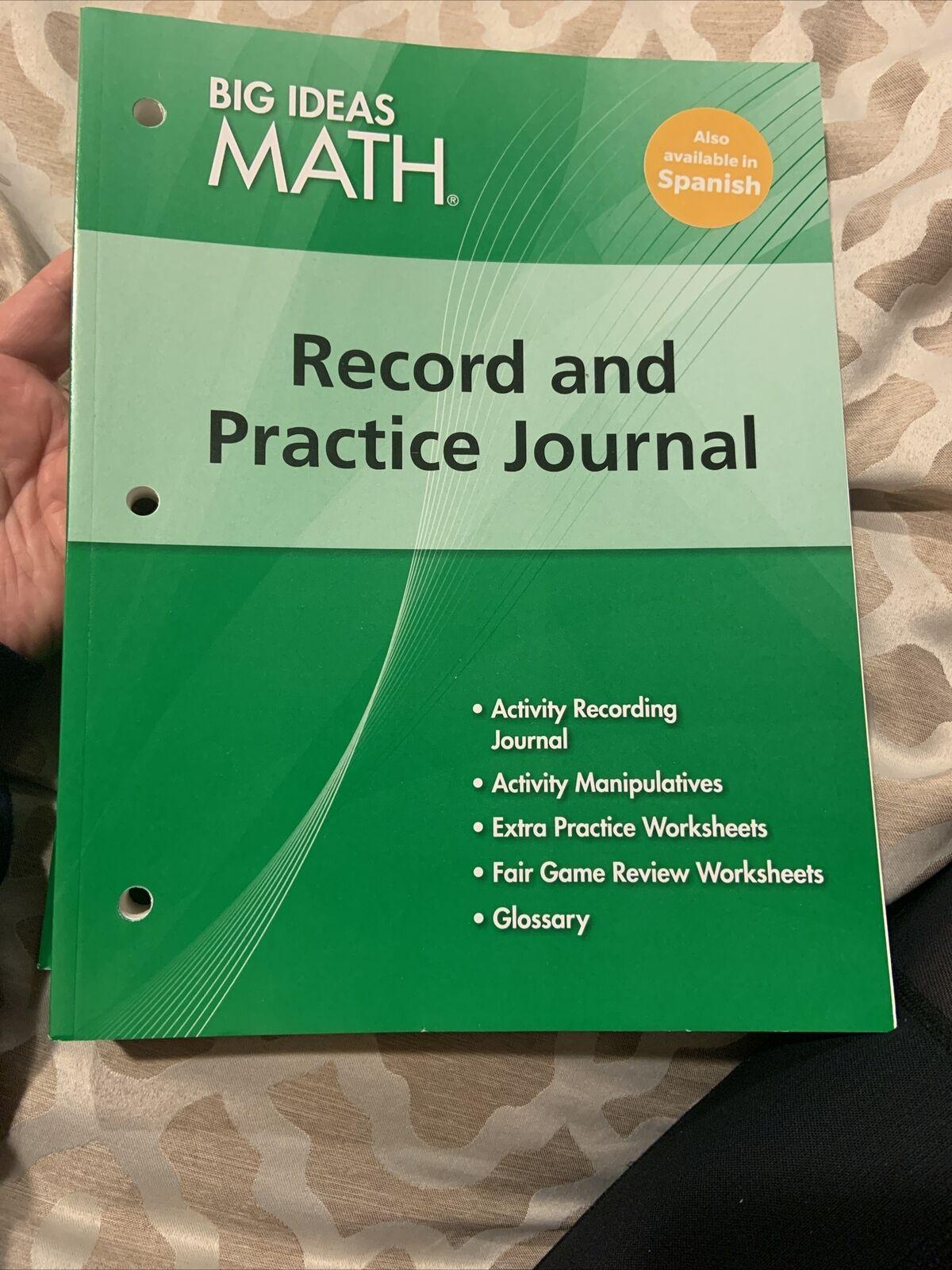 Big Ideas Math Record Practice Journal Grade 6 Green Common Core 9781608404605 For Sale Online Ebay [ 1600 x 1200 Pixel ]