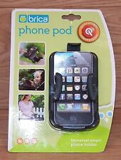 Genuine Brica Phone Pod Universal Small Smart Phone Stroller Attachment **READ**