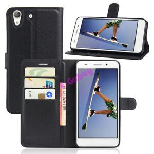 Pour-Huawei-Ascend-Y-Series-Telephones-de-Luxe-Clapet-Pied-Cuir-PU-Housse-Etui