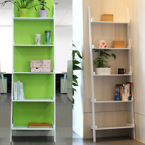 5-etages-MDF-moderne-echelle-murale-etagere-Bibliotheque-Storage-Display-Rack