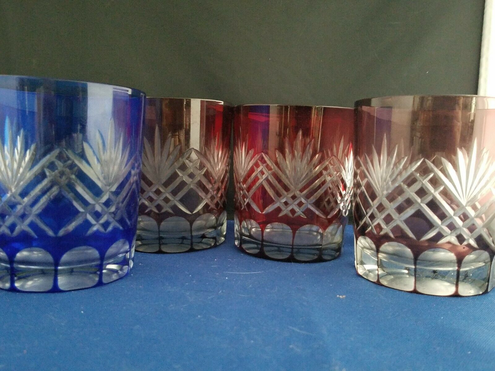 Crystal Cut to Clear  Glasses set of 4 Whisky Tumblers 4 h