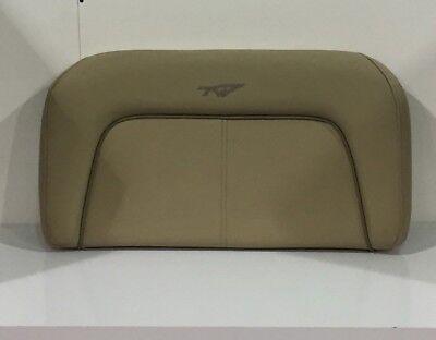 Tidewater Boat Seat Cushion Tan W// Light Brown Accent Strip Marine Snaps