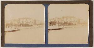Ville-A-Identify-Il-Normandie-Francia-Foto-Stereo-Th1L5n1-Vintage-Albumina-c1890