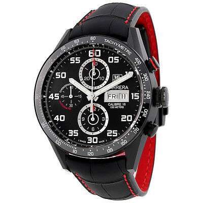 Tag Heuer Carrera Black Dial Chronograph Automatic Mens Watch CV2A81.FC6237