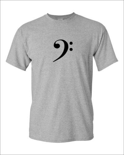 Bass Clef T-Shirt Musique Symbole Shirt Tee Musicien Jazz Rock Band Guitar S-XXXL