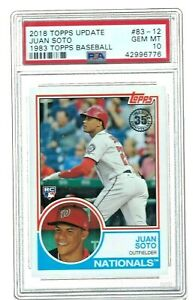 2018 Topps Update Juan Soto Rookie 1983 Topps Baseball #83-12 RC GEM MINT PSA 10