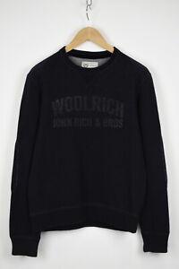WOOLRICH Men's MEDIUM Wool Blend Front Logo Crew Pullover Sweater 33178_GS