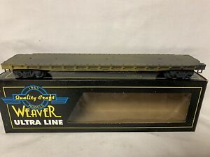PRO-WEATHERED-WEAVER-US-ARMY-50-FLAT-CAR-FOR-O-SCALE-TRAIN-SET-MILITARY