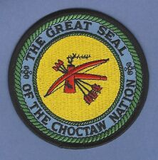 CHOCTAW NATION OKLAHOMA TRIBAL SEAL PATCH