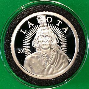2013 Lakota Crazy Horse Proof Coin 1 Troy Oz 999 Fine