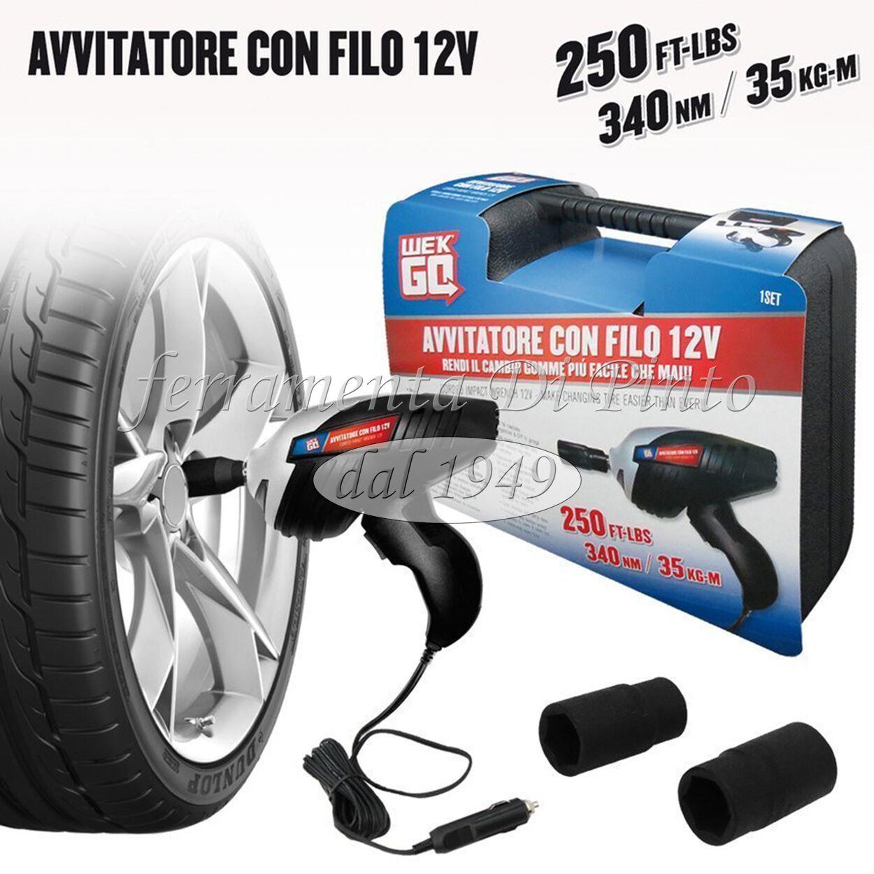 Avvitatore Impulsi Professionale svita avvita bulloni pneumatic cer  ruote 12v